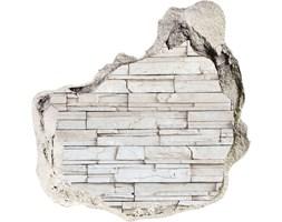 Dziura 3d fototapeta na ścianę Biała ściana kamień