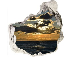 naklejka fototapeta 3D Zachód nad morzem