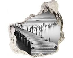 Samoprzylepna dziura na ścianę Drewniane molo