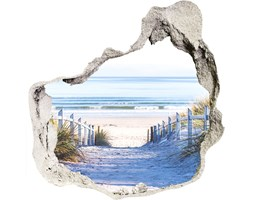 Dziura 3d w ścianie na ścianę Nadmorskie wydmy