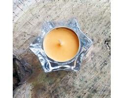 Glass Tealight Holder Transparent świecznik szklany gwiazdka do podgrzewaczy - Przezroczysty