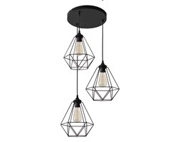 Lampa wisząca industrialna druciana KARO W-KD 1311/3 BK