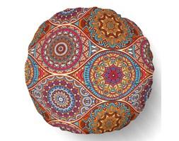 Poduszka kształt ROUND okrągła Notre Dame Orange 50cm.