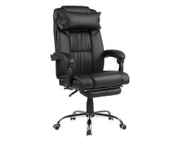 Beliani Krzesło biurowe skóra ekologiczna czarne LUXURY