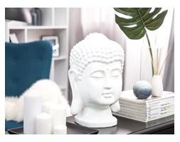 Beliani Figurka dekoracyjna biała 41 cm BUDDHA