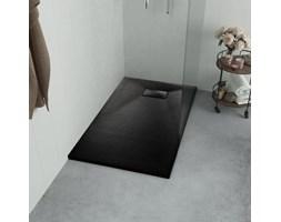 vidaXL Brodzik prysznicowy, SMC, czarny, 120 x 70 cm