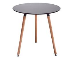 Nowoczesny stylowy okrągły stół - czarny - 80cm