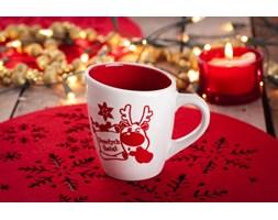 Kubek świąteczny VERONI CZERWONY RENIFER 250 ml - rabat 10 zł na pierwsze zakupy!