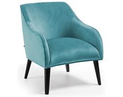 Fotel Lobby 65x80 cm turkusowy nogi czarne