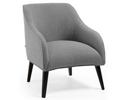 Fotel Lobby 65x80 cm ciemnoszary nogi czarne