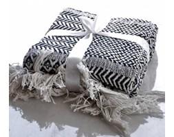 Pled bawełniany Vero biało-czarny