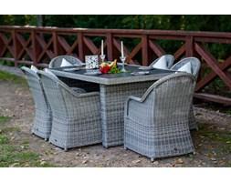 Meble stołowe z okrągłego technorattanu VERO
