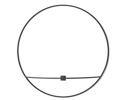 Świecznik okrągły POV czarny S, proj. Note Design Studio, Menu