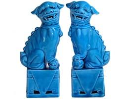 Turkusowa para psów Foo, lata 80.