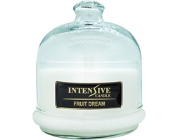 INTENSIVE COLLECTION 100% Soy Wax Premium Candle B2 Jar świeca zapachowa w szkle z kloszem 100% wosk sojowy - Fruit Dream