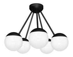 Lampa sufitowa nowoczesna szklana kula żyrandol SFERA V czarny/biały śr. 50cm