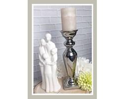 Świecznik srebrny 31 cm