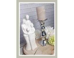 Świecznik srebrny 25 cm