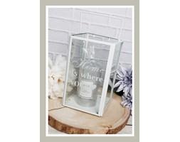Biały szklany lampion