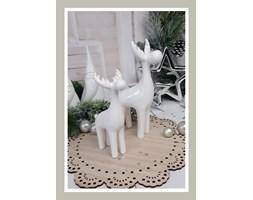 Ceramiczny renifer biały DUŻY