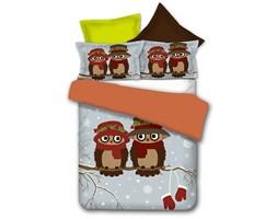 Pościel Owls Winter Story Decoking, 135x200 cm, wielokolorowy