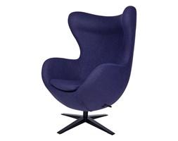 Fotel EGG SZEROKI BLACK ciemny fiolet, podstawa czarna