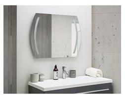 Beliani Lustro ścienne LED 60 x 80 cm srebrne ARQUES