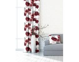 Zasłona Garden Flowers czerwony 140x250