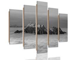 Obraz pięcioczęściowy na panelu dekoracyjnym, pentaptyk typ C, Szczyty ponad chmurami 2