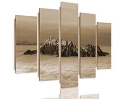 Obraz pięcioczęściowy na panelu dekoracyjnym, pentaptyk typ C, Szczyty ponad chmurami 1