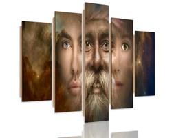 Obraz pięcioczęściowy na panelu dekoracyjnym, pentaptyk typ C, Trzy twarze fantasy