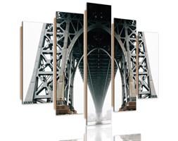Obraz pięcioczęściowy na panelu dekoracyjnym, pentaptyk typ C, Pod Brooklyn Bridge