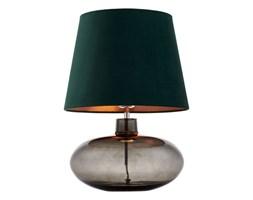 SAWA VELVET lampa stojąca 1 x 60W E27 (chrom / dymny / zielony / miedź) lampka dekoracyjna abażurowa aksamitna  KASPA 41015113