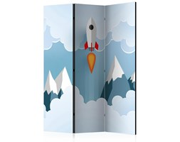 Parawan 3-częściowy - Rakieta w chmurach [Room Dividers]