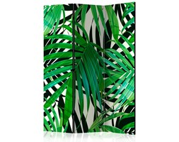 Parawan 3-częściowy - Tropikalne liście [Room Dividers]