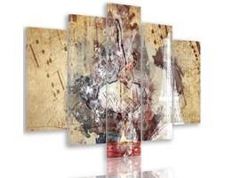 Obraz pięcioczęściowy na płótnie Canvas, pentaptyk typ A, Baletnica i wieża Eiffla