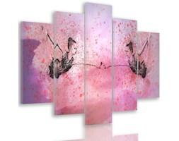Obraz pięcioczęściowy na płótnie Canvas, pentaptyk typ A, Mała baletnica przed lustrem