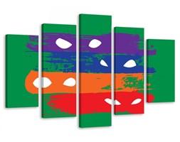 Obraz pięcioczęściowy na płótnie Canvas, pentaptyk typ A, Cztery maski Zorro