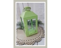 Zielona latarnia metalowa