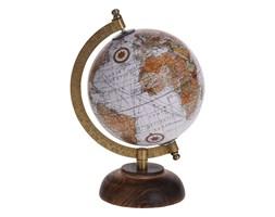 Globus siwy średnica 13 cm na drewnianej podstawie