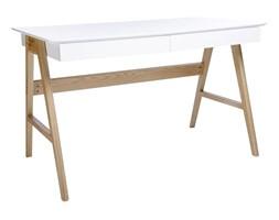 Biurko Riva 120x70 cm (biało-dębowe) KingHome