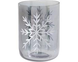Świecznik szklany świąteczny 10x14cm kolor srebrny