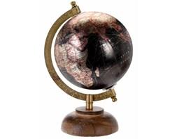 Dekoracyjny stalowy globus czarny