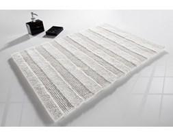 Dywanik łazienkowy MOCA Design paski biały 50x80