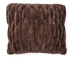 BO-MA Trading Poszewka na poduszkę włochata pikowana brązowy, 45 x 45 cm