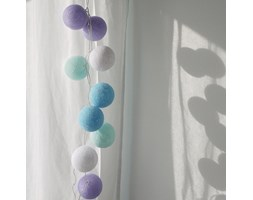 BABY LAVENDER Cotton Ball Lights PREMIUM