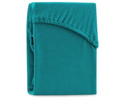 Turkusowe elastyczne prześcieradło dwuosobowe AmeliaHome Ruby Turquoise, 220-240x220 cm