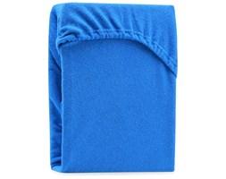 Niebieskie elastyczne prześcieradło dwuosobowe AmeliaHome Ruby Blue, 180-220x200 cm