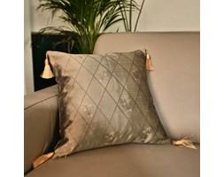 Poszewka na poduszkę jedwabna Palm Tree z frędzlami