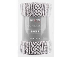 """Narzuta koc """"Tress"""" - 220x200 cm - ivory/szary"""